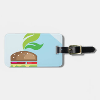 Veggie Burger Vector Art Tag For Luggage