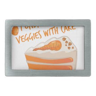 Veggie Cake Rectangular Belt Buckle