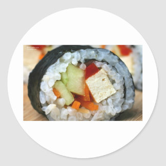 Veggie California Roll Gifts Tee Cards More Round Sticker