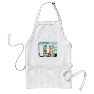 Veggie Cannibals Funny Offbeat Cartoon Gifts Adult Apron