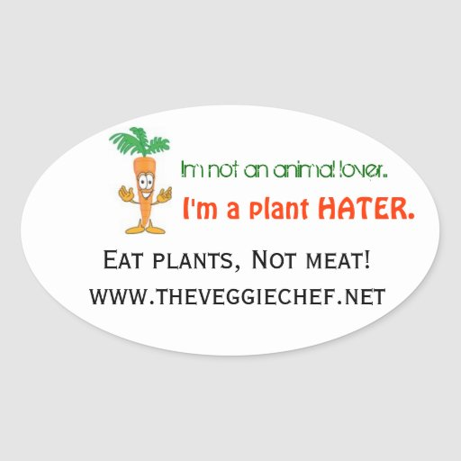Veggie Chef Stickers- Set of 4 Oval Sticker