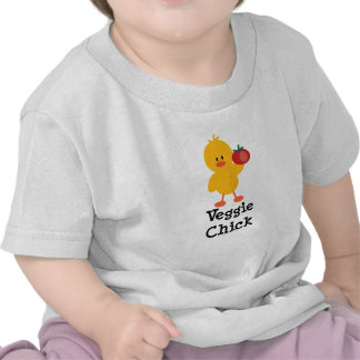 Veggie Chick Baby Tee Shirt