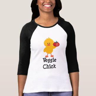 Veggie Chick Raglan Tee