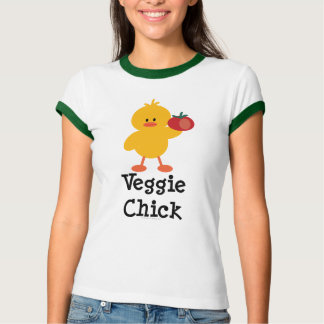 Veggie Chick Ringer T-shirt