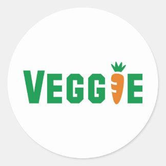 Veggie Classic Round Sticker