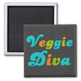Veggie Diva 2 Inch Square Magnet