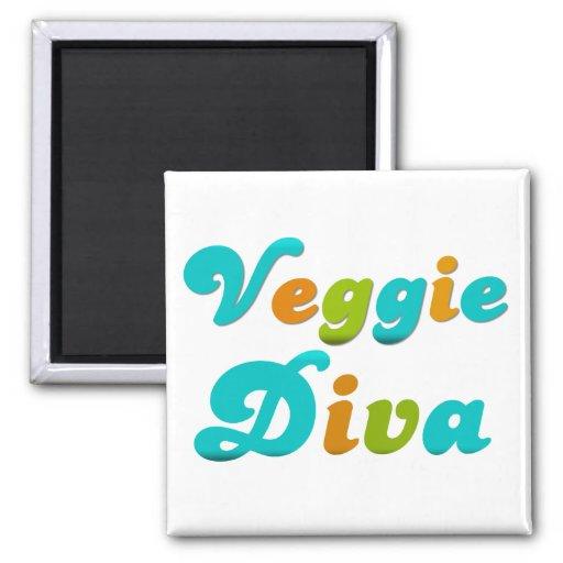 Veggie Diva Refrigerator Magnet