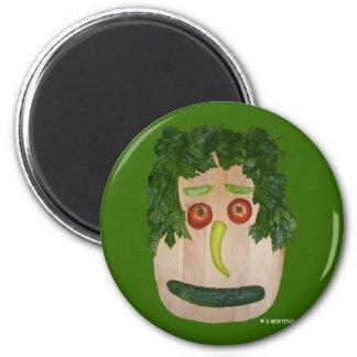Veggie Face 2 Inch Round Magnet