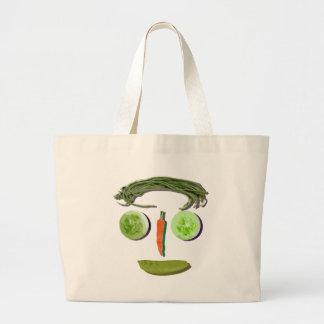 Veggie Face Canvas Bag