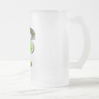 Veggie Face Frosted Glass Beer Mug