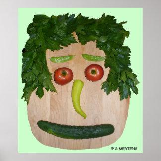Veggie Face Poster