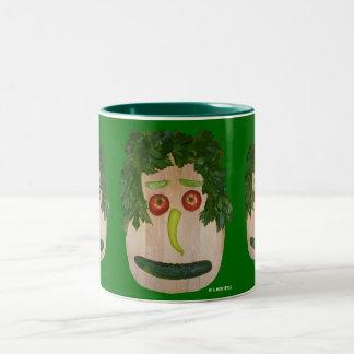 Veggie Face Two-Tone Coffee Mug
