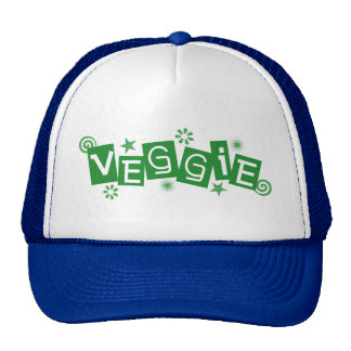 Veggie, For Vegetarians and Vegans Trucker Hat