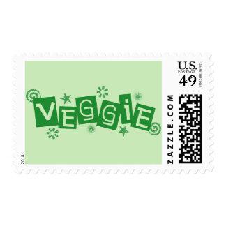 Veggie, For Vegetarians and Vegans Postage Stamp