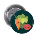 Veggie Friends 2 Inch Round Button