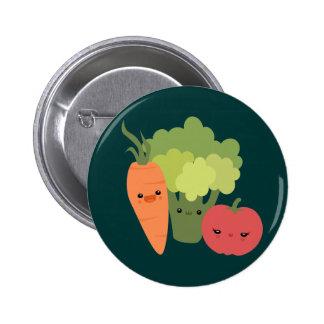 Veggie Friends Pinback Button