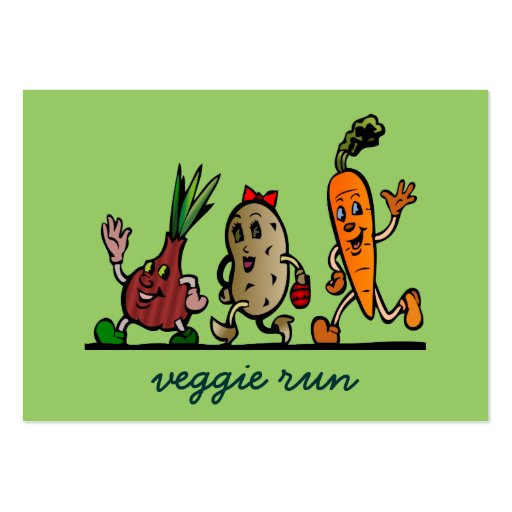 veggie fun large business cards (Pack of 100)
