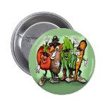 Veggie Gang Pinback Buttons