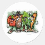 Veggie Gang Round Stickers
