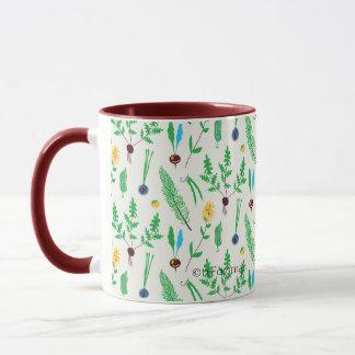 Veggie garden illustrated mug