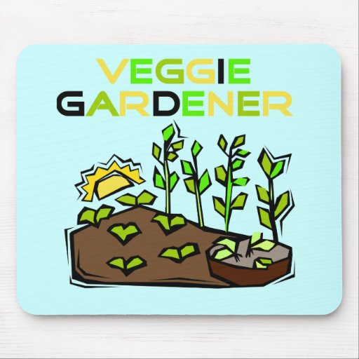 Veggie Gardener Tshirts and Gifts Mouse Pad