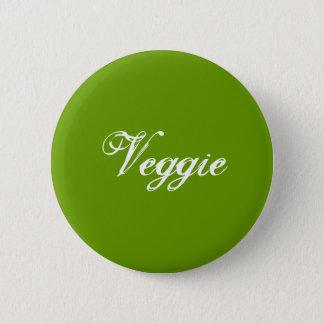 Veggie. Green. Slogan. Button
