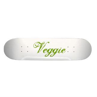 Veggie Green Slogan Skate Board