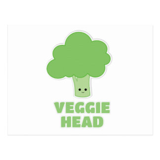 Veggie Head Postcard
