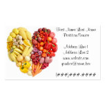 Veggie Heart Double-Sided Standard Business Cards (Pack Of 100)