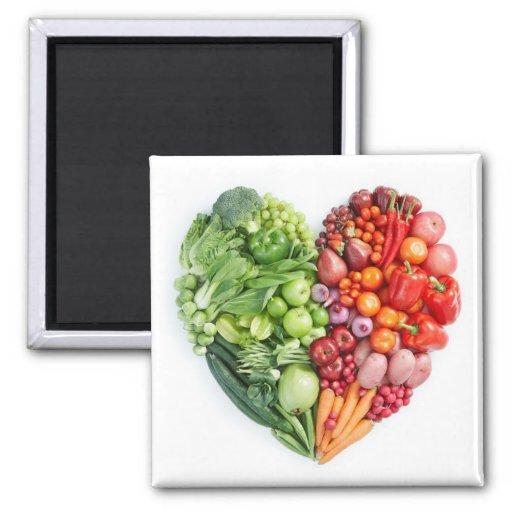 Veggie Heart Fridge Magnet