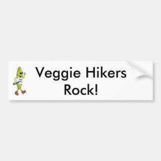 Veggie Hikers Rock! Bumper Sticker