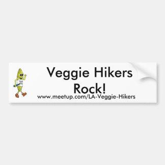 Veggie Hikers Rock! Bumper Stickers