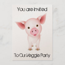 Veggie Invitation card