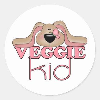 Veggie Kid Dog Stickers