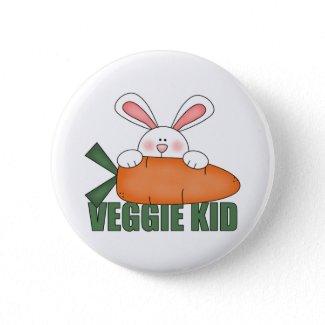 Veggie Kid Rabbit Button button