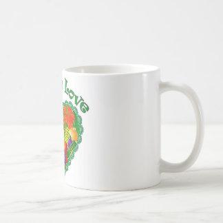 Veggie Love Heart Coffee Mug