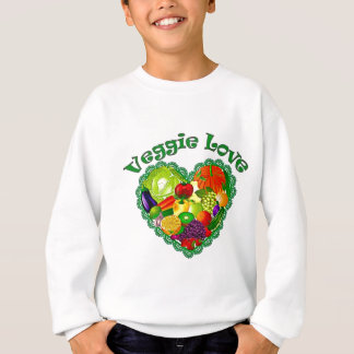 Veggie Love Heart Sweatshirt