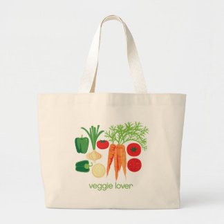 Veggie Lover Mixed fresh Vegetables Large Tote Bag