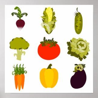 Veggie Lover Print print