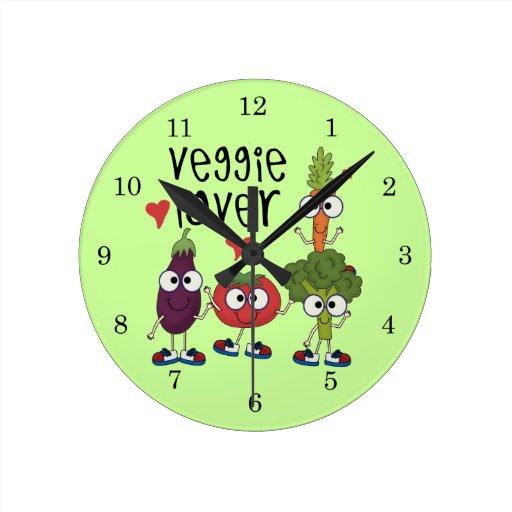 Veggie Lover Round Wallclock