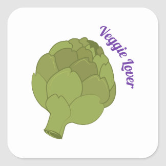 Veggie Lover Square Sticker