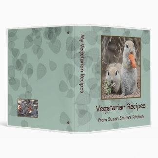 Veggie Loving Squirrels Binder