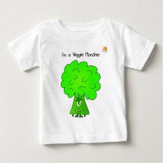 Veggie Monster Baby T-shirt - Broccoli