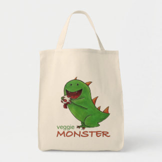 Veggie Monster grocery tote Grocery Tote Bag