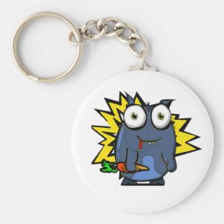 Veggie Monster Key Ring Basic Round Button Keychain