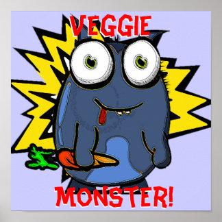 Veggie Monster Poster