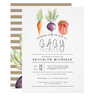 Veggie Patch | Watercolor Baby Shower Card