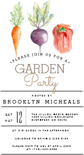 garden party invitations zazzle