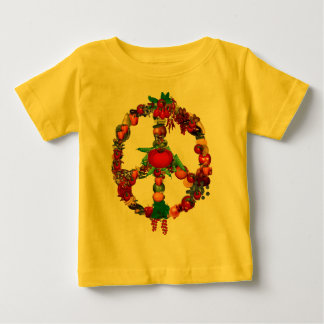 Veggie Peace Sign Baby T-Shirt