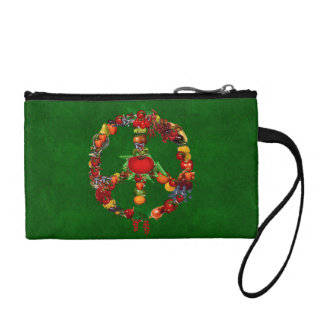 Veggie Peace Sign Coin Wallet